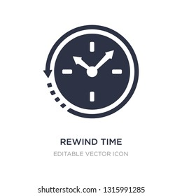 rewind time icon on white background. Simple element illustration from General concept. rewind time icon symbol design.