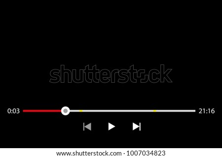 youtube video showing black screen