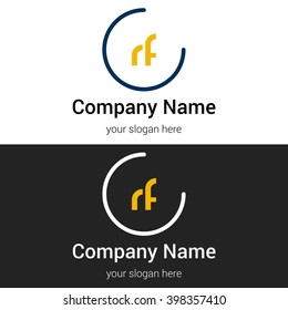 RF business logo icon design template elements. Vector color sign.