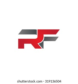 RF company group linked letter logo
