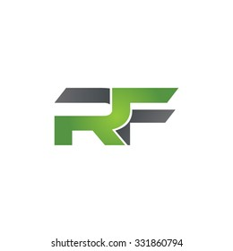 RF company linked letter logo green