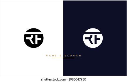 RF ,FR Abstract Letters Logo monogram