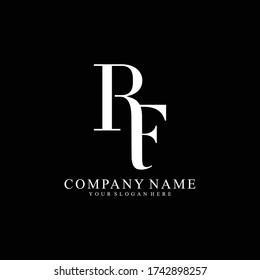 RF or FR Letter Initial Logo Design, Vector Template