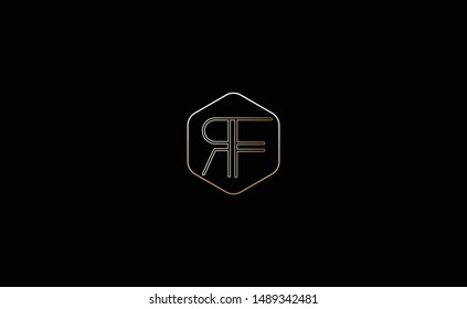 RF, FR Letter Logo Design with Creative Modern Trendy Typography