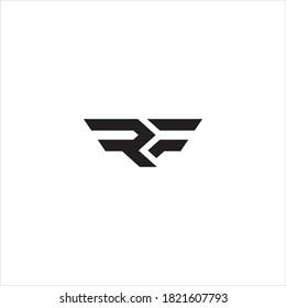 RF or FR letter logo design.