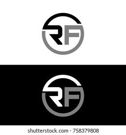 RF initial letters elegant logo, Modern Logo Design
