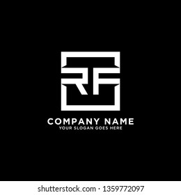 RF Initial Logo design,RF letter modern square vector, clean and strong illustration