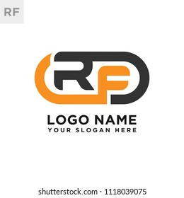 RF initial logo template vexctor