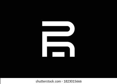 RF letter logo design on luxury background. FR monogram initials letter logo concept. RF icon design. FR elegant and Professional white color letter icon design on black background. FR RF F R