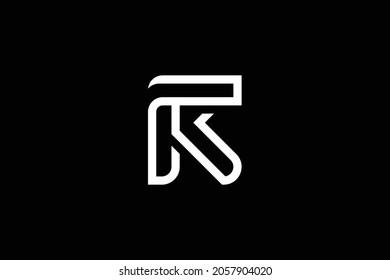 RF letter logo design on luxury background. FR monogram initials letter logo concept. RF icon design. FR elegant and Professional white color letter icon design on black background.