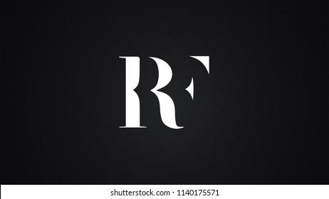 RF Letter Logo Design Template Vector