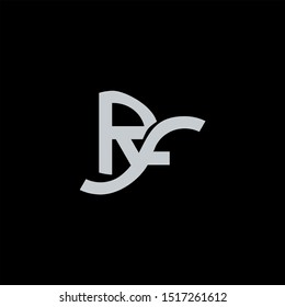 RF Letter monogram with abstrac concept style design