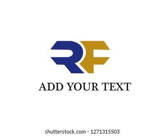 RF logo design illustration