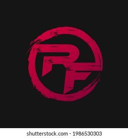 RF logo design with rebel effect