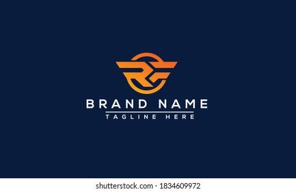 RF Logo Design Template Vector Graphic Branding Element.