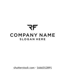 rf logo icon design vector