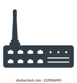 RF Router Industrial Network Switch Communication Vector Icon design