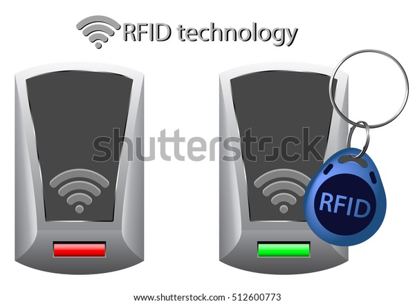 Rfid Tag Access Control Rfid Technology Stock Vector
