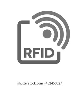RFID tag icon. Radio Frequency Identification symbol