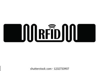 RFID tag / RFID wireless design vector illustration.