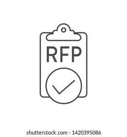 RFP Icon - request for proposal concept / idea