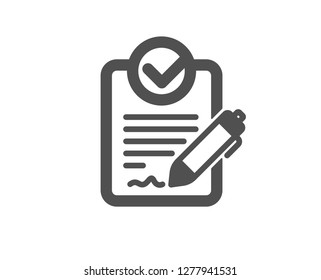 Rfp icon. Request for proposal sign. Report document symbol. Quality design element. Classic style icon. Vector