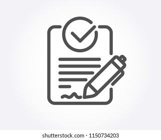 Rfp line icon. Request for proposal sign. Report document symbol. Quality design element. Classic style rfp file. Editable stroke. Vector