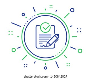 Rfp line icon. Request for proposal sign. Report document symbol. Quality design elements. Technology rfp button. Editable stroke. Vector