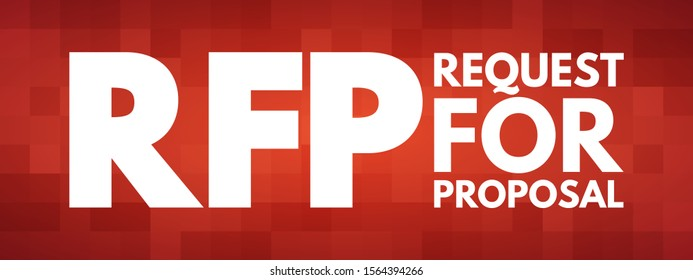 RFP - Request For Proposal acronym, business concept background