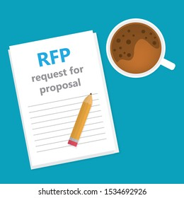 RFP; Request For Proposal concept- vector illustration