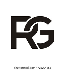 RG initial letter logo design template vector