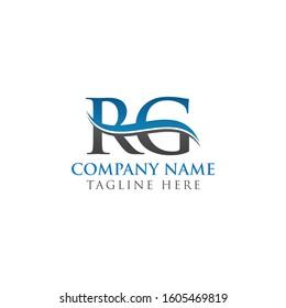 RG Letter Type Logo Design Vector Template. Abstract Letter RG Logo Design