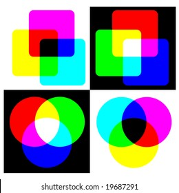 RGB and CMYK color swatch - also available as JPEG