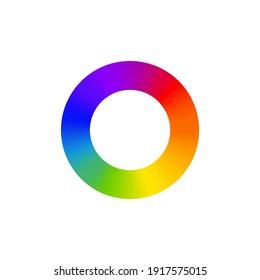 RGB color wheel spectrum selector picker. RGB palette logo. Color rainbow diagram circle