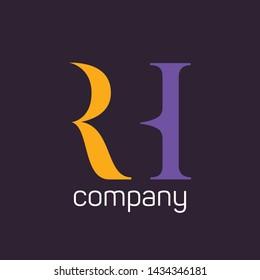 RH company logo design. Monogram logo.