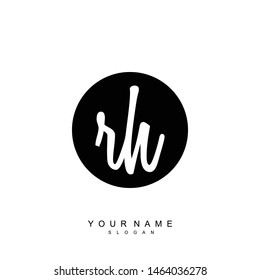RH Initial beauty floral logo template