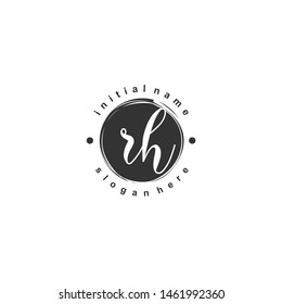 RH Initial beauty monogram logo vector