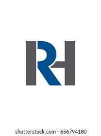 RH Initials Logo Vector