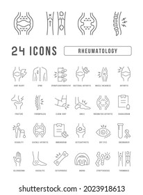 Rheumatology. Collection of perfectly thin icons for web design, app, and the most modern projects. The kit of signs for category Medicine.