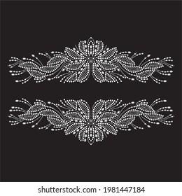 Rhinestone applique print for textile clothes fashion,trendy crystal studs embellishment for apparel,beautiful design,heat transfer artwork.