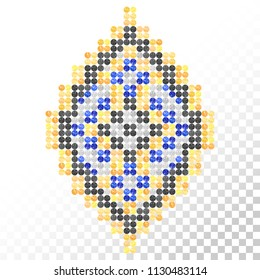 Rhinestones ornament. Transfer iron heat design. Ethnic. Tribal. Boho. Colorful ornament. Gems. Rhinestones appligue hot fix. Print for fabric. Fashion trend.