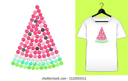 Rhinestones watermelon. Summer design. Fruit ornament. Transfer iron heat ornament. Gems. Embroidery. T-shirt simple mockup. Rhinestones appligue hot fix. Print for fabric. Fashion trend.