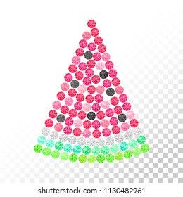 Rhinestones watermelon. Summer design. Fruit ornament. Transfer iron heat ornament. Gems. Embroidery. Rhinestones appligue hot fix. Print for fabric. Fashion trend.