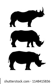 Rhino Animal Silhouette pack