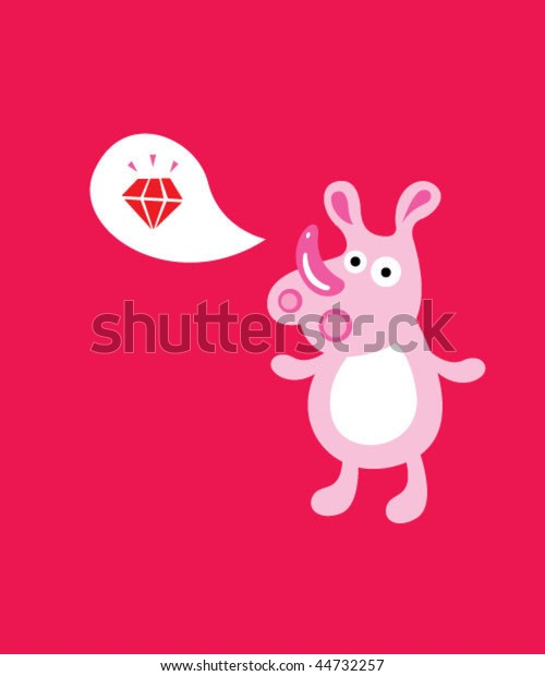 Rhino Ask Diamond Stock Vector (Royalty Free) 44732257