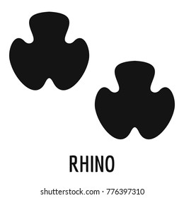 Rhino feet footprint icon. Simple illustration of rhino feet footprint vector icon for web