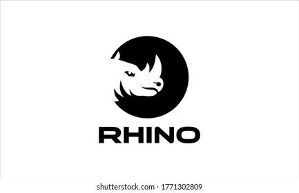 Rhino head vector, rhino esport logo team, rhino emblem vector