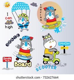 rhino and hippo cartoon