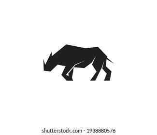 Rhino icon , logo design vector template. Modern safari animal icon .