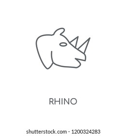 Rhino linear icon. Rhino concept stroke symbol design. Thin graphic elements vector illustration, outline pattern on a white background, eps 10.